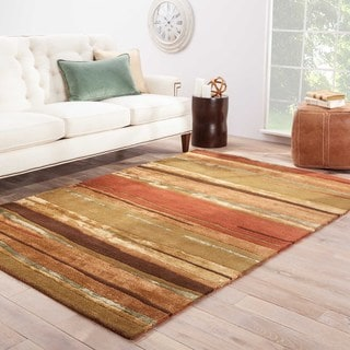Pinnacle Handmade Abstract Multicolor Area Rug (5' X 8')