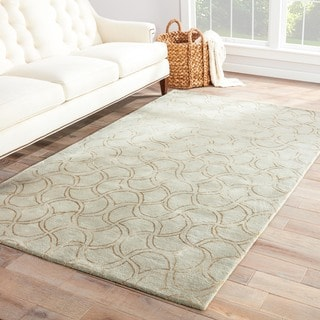 Hand-tufted Transitional Abstract Grey Rug (8' x 11')