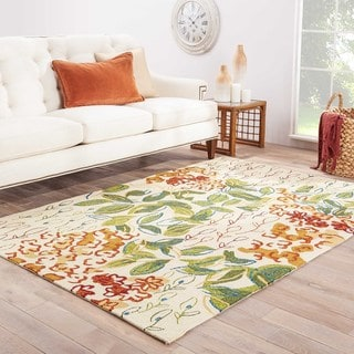 "Mariager Indoor/ Outdoor Floral Multicolor/ White Area Rug (7'6"" X 9'6"") - 7'6"" x 9'6"""