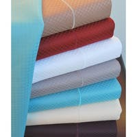 Superior 800 Thread Count Micro Checkered 6 Piece Cotton Blend Sheet Set