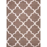 "Portland Handmade Trellis Brown/ White Area Rug (3'6"" X 5'6"")"