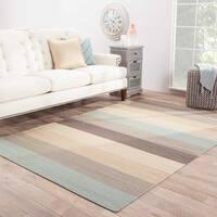 """Harlem Handmade Stripe Multicolor Area Rug (3'6"""" X 5'6"""") - multi - 3'6 x 5'6"""