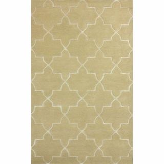 nuLOOM Handmade Modern Woolen Viscose Trellis Rug Tan (7'6 x 9'6)