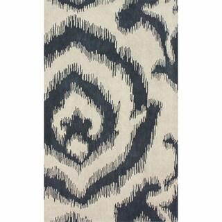 Shop Nuloom Handmade Modern Ikat Dark Grey Rug 7 6 X 9 6