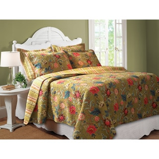 Greenland Home Fashions Mendocino 3-piece Quilt Set