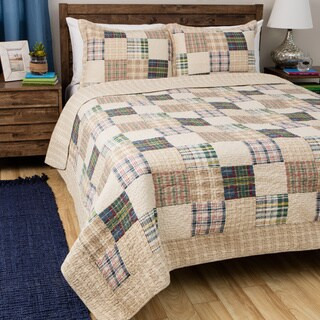 Greenland Home Fashions Oxford 3-piece Quilt Set (3 options available)
