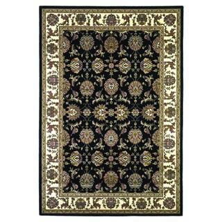 Domani Legacy Kashan Black and Ivory Rug - 9'10 x 13'2