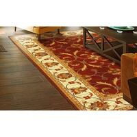 Domani Connections Vintage Red and Ivory Rug - 7'10 x 9'10