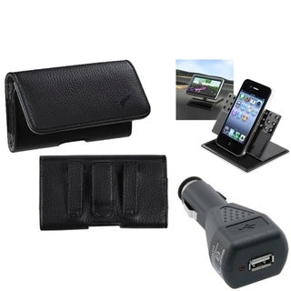 INSTEN Car Charger/ Dashboard Holder/ Pouch Phone Case Cover for Apple iPhone 5