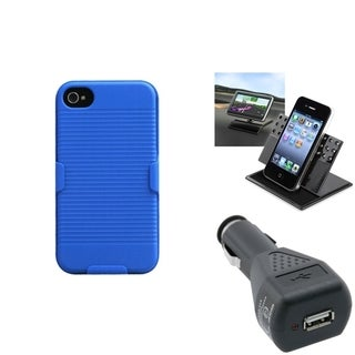 INSTEN Car Charger/ Dashboard Holder/ Holster Phone Case Cover for Apple iPhone 5
