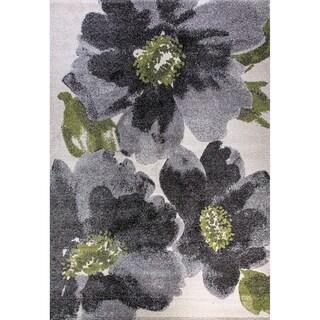 Eternity Floral Grey Rug (7'10 x 11'2)