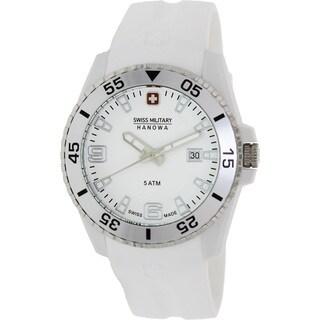 Swiss Military Hanowa Men's 'Ranger 06-4200-21-001-01' White Silicone Swiss Quartz Watch