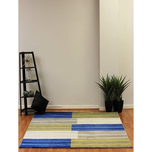 Eternity Blocks Multi-colored Rug (6'7 x 9'6) - 6'7 x 9'6