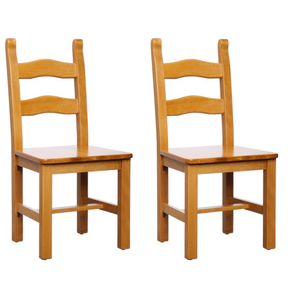 Monticello Cherry Finish Dining Chairs (Set of 2)