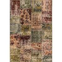 Eternity Patchwork Multi-colored Rug - 7'10 x 11'2