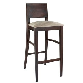Solid Beech Wood Upholstered Bar Stool
