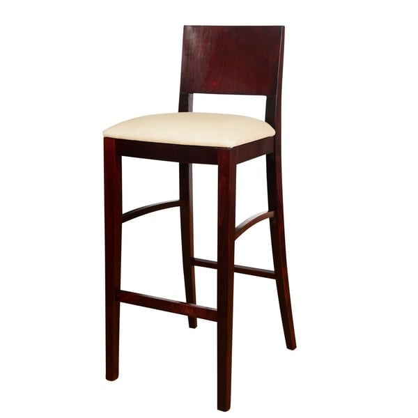 Shop Solid Beech Wood Upholstered Bar Stool Free