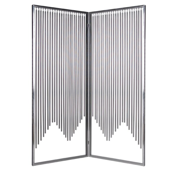 Handmade 84-inch Ensemble 2-Panel Stainless Steel Screen (China)