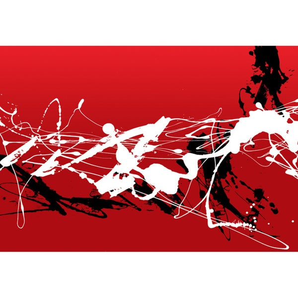 Red, White and Black Canvas Printing Wall Art