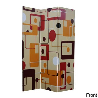 Deep Saffron 3-Panel Canvas Screen