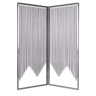 Handmade 71-inch Ensemble 2-Panel Stainless Steel Screen (China)|https://ak1.ostkcdn.com/images/products/8184933/71-inch-Ensemble-2-Panel-Stainless-Steel-Screen-China-P15521473.jpg?impolicy=medium