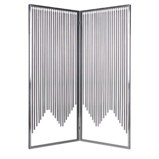 Handmade 71-inch Ensemble 2-Panel Stainless Steel Screen (China)