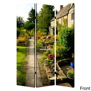 English Garden 3-Panel Canvas Screen