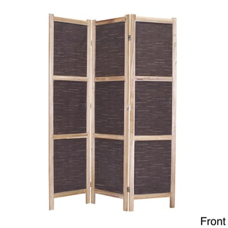 Screen Gems Sumatra 3-panel Fabric Screen (China)