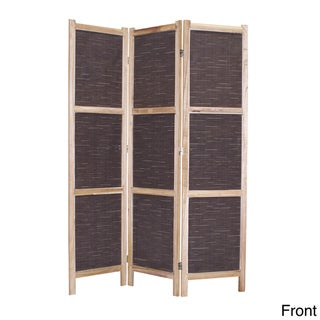 Handmade Screen Gems Sumatra 3-panel Fabric Screen (China)