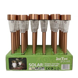 Stainless Steel Mini Solar Copper Lights (Set of 24)