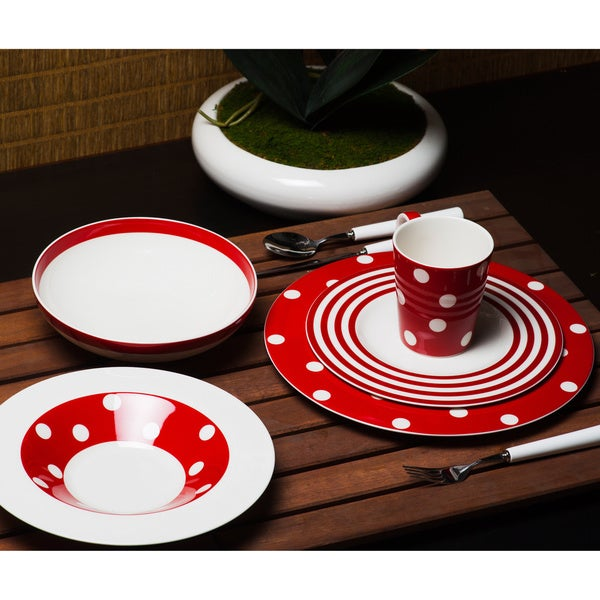 Shop Red Vanilla Freshness Mix Amp Match Red Salad Plates Set Of 6 Free Shipping Today