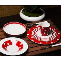 Red Vanilla Freshness Mix and Match Red Dinner Plates (Set of 6)