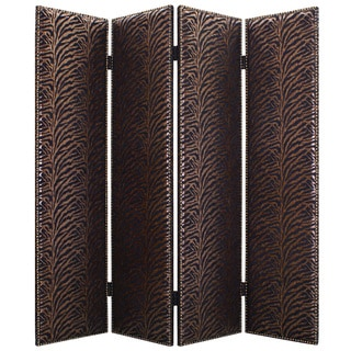 Azullian 4-Panel Fabric Screen (China)
