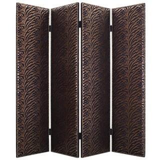 Handmade Azullian 4-Panel Fabric Screen (China)