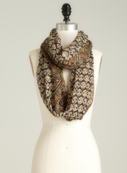 David & Young Skull Printed Infinity Scarf