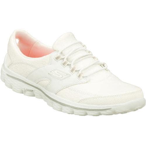 815f36d953a4 Shop Women's Skechers GOwalk 2 Virtuosity White/Silver - Free Shipping Today  - Overstock - 8186034