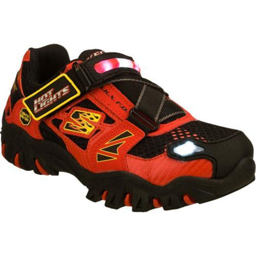 Boys' Skechers Hot Lights Damager Fire Truck Red/Black