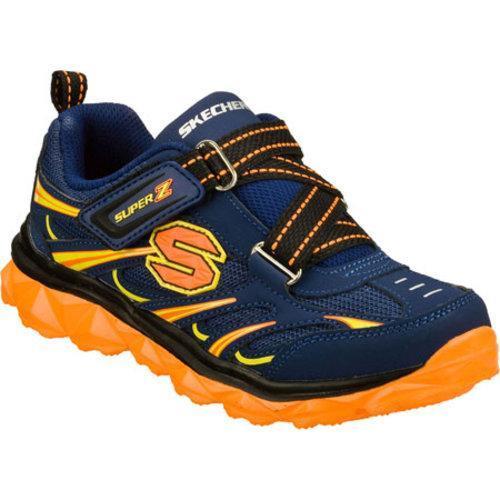 Boys' Skechers Mighty Flex Sproom Navy/Orange