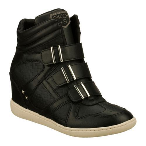 1ba95668f16 Shop Women s Skechers SKCH Plus 3 Ring On Black - Free Shipping Today -  Overstock.com - 8186121