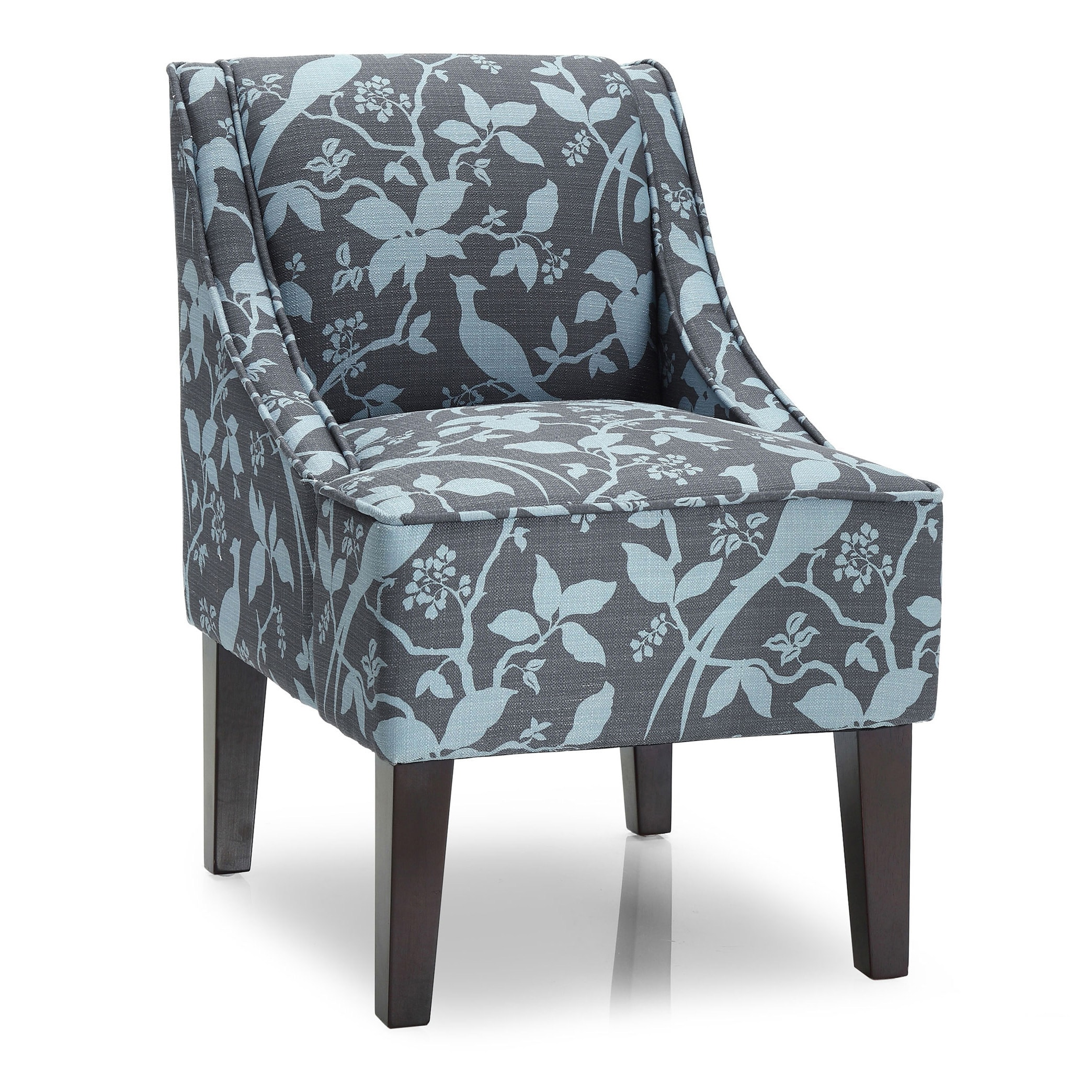Cool Porch Den Debbie Swoop Floral Accent Chair Gmtry Best Dining Table And Chair Ideas Images Gmtryco