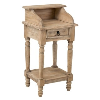 Decorative Tan Rustic Promenade Square Accent Table