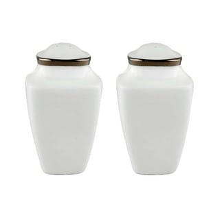 Lenox Solitaire White Square Salt and Pepper Shakers Set