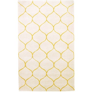 Domani Cultivated Amina Tile Ivory/ Gold - 3'3 x 5'3