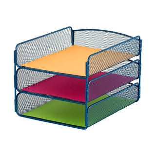 Safco Onyx Mesh Desktop Organizer with 5 Vertical/ 3 Horizontal Sections