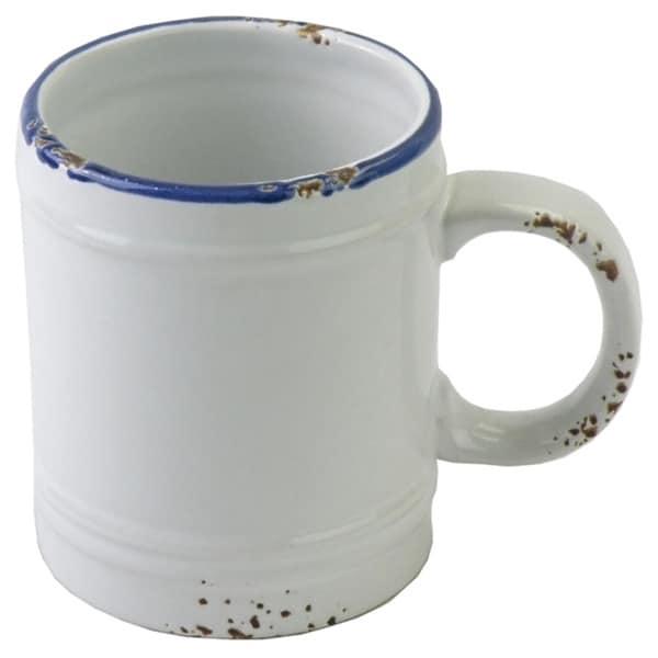 Hand-painted Enamel Vintage-style Mugs (Set of 6)