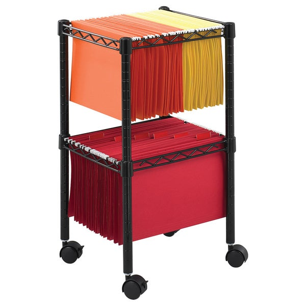 817ae3392f8d Safco Two-tier Compact Letter/ Legal-size File Cart