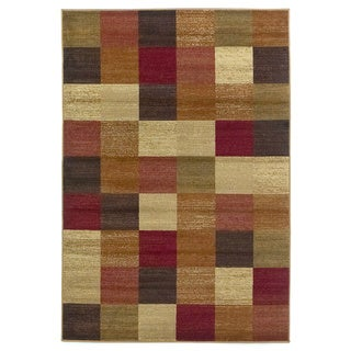 """Domani Connections Tiled Beige/ Multi Rug - 5'3"""" x 7'7"""""""