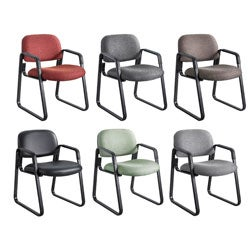 Safco Cava Urth Sled Base Guest Chair