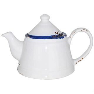 Hand-painted Enamel Vintage-style Teapot