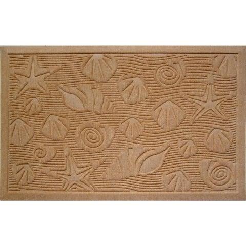 Weather Beater Seashells Tan Doormat (1'10 x 2'11)